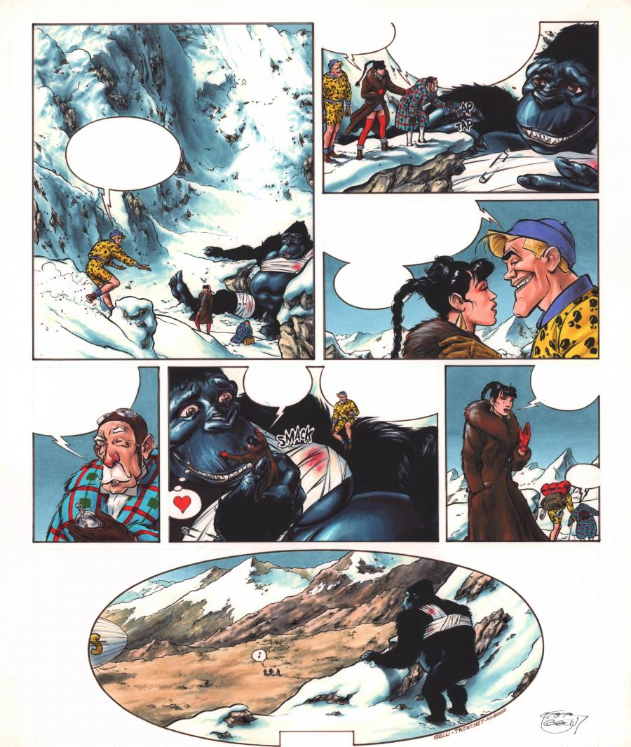 Original Comics illustration, Napoleon Gallery : RAOUL FULGUREX - Original comic page 46 from RAOUL FULGUREX Issue 2 La mort qui tue by Dominique GELLI - 46