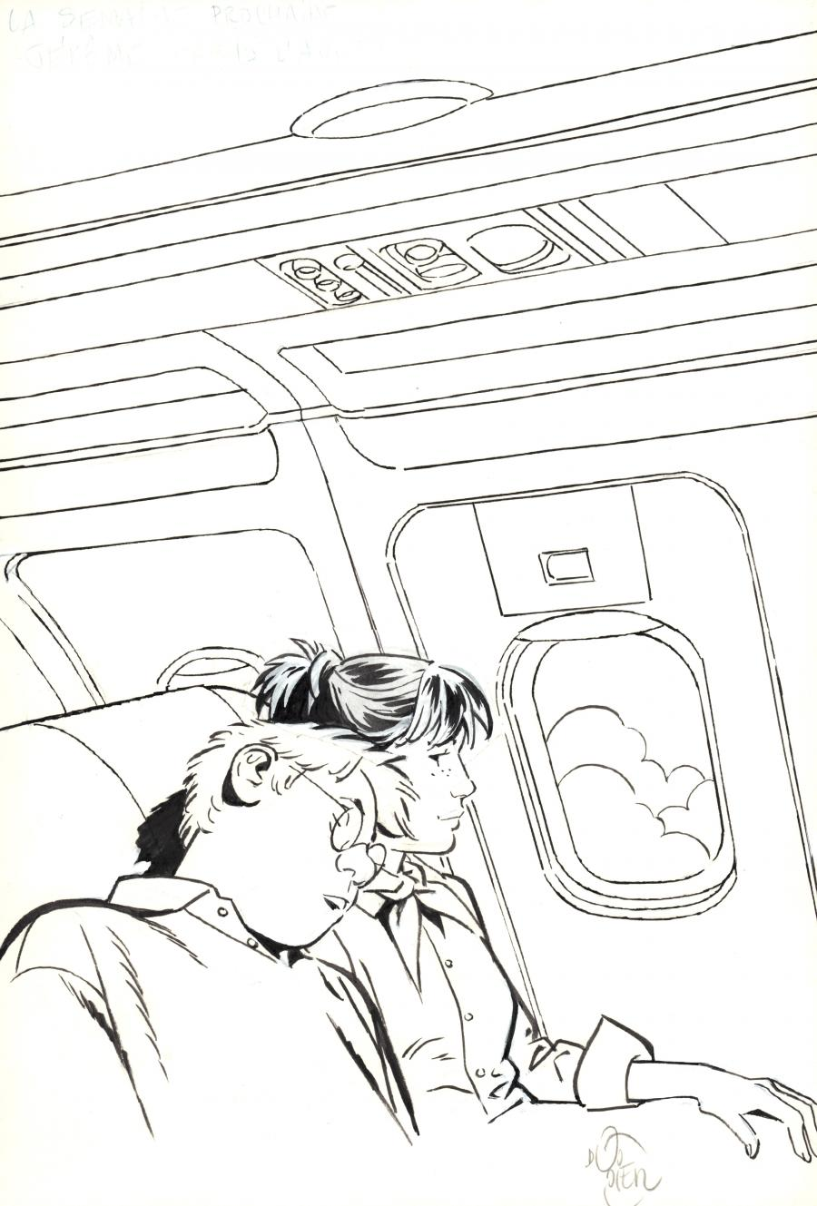 Original comic illustration from JEROME K. JEROME BLOCHE for Journal de Spirou by Alain DODIER