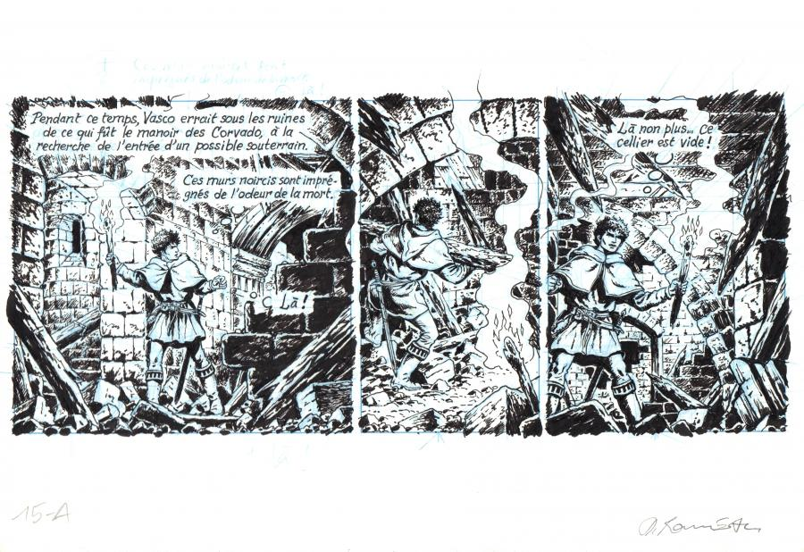 ROUSSEAU's original comic strip A from the page 15 of VASCO Issue 26