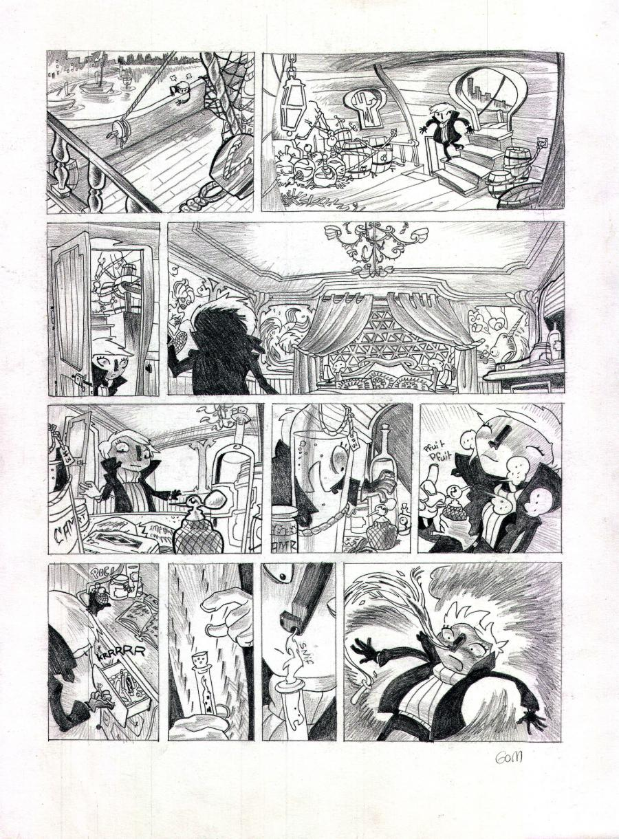 Original GOM's comic art from a comic's project.