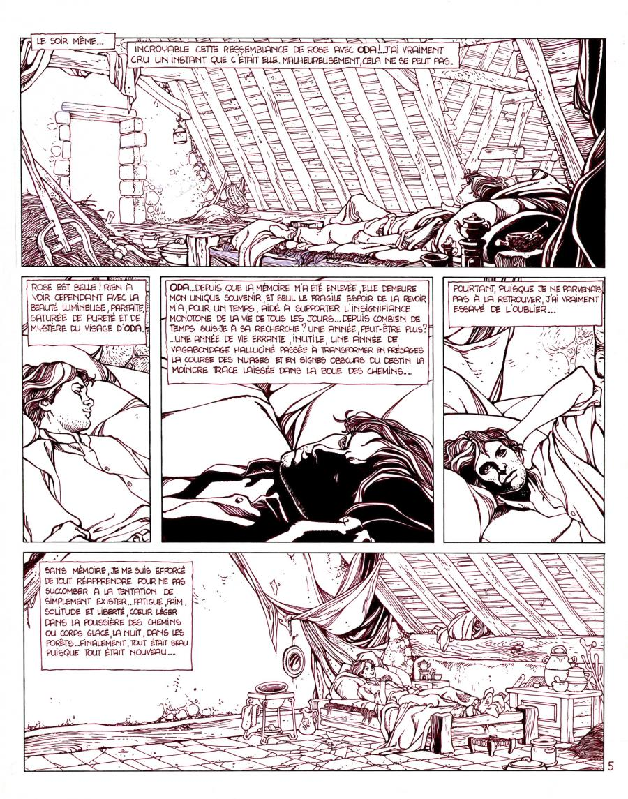 Pierre MAKYO's original comic art GRIMION LEATHER GLOVE original page 5.