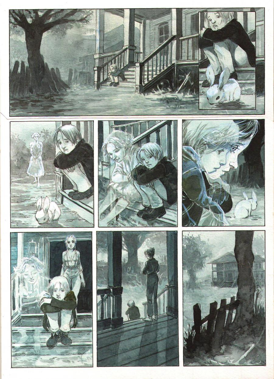 Original page 28 from issue 1 of Après l'enfer - by Fabrice MEDDOUR