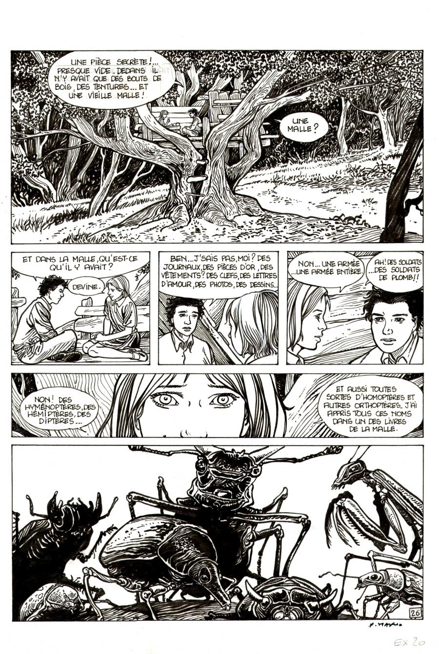Pierre MAKYO's original comic art THE STORY OF EVERY DAY original page 26.