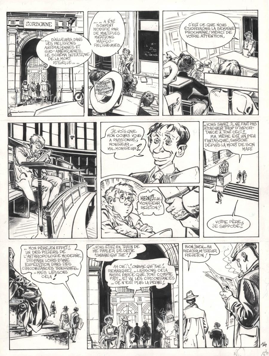 Original comic page 14 from JEROME K JEROME BLOCHE Issue 1 by Alain DODIER