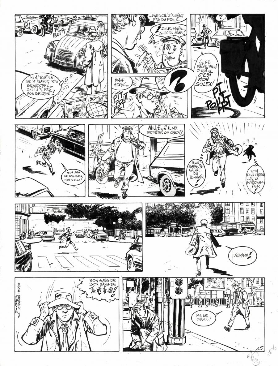 Original comic page 15 from JEROME K JEROME BLOCHE Issue 1 by Alain DODIE