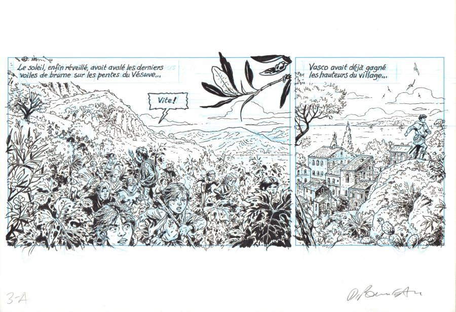 ROUSSEAU's original comic strip A from the page 3 of VASCO Issue 26