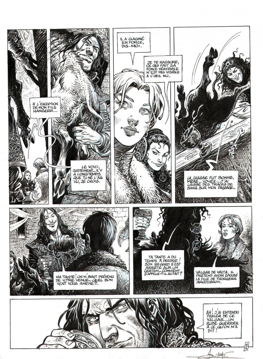Original comic art 21 from SAGA VALTA 2 by AOUAMRI