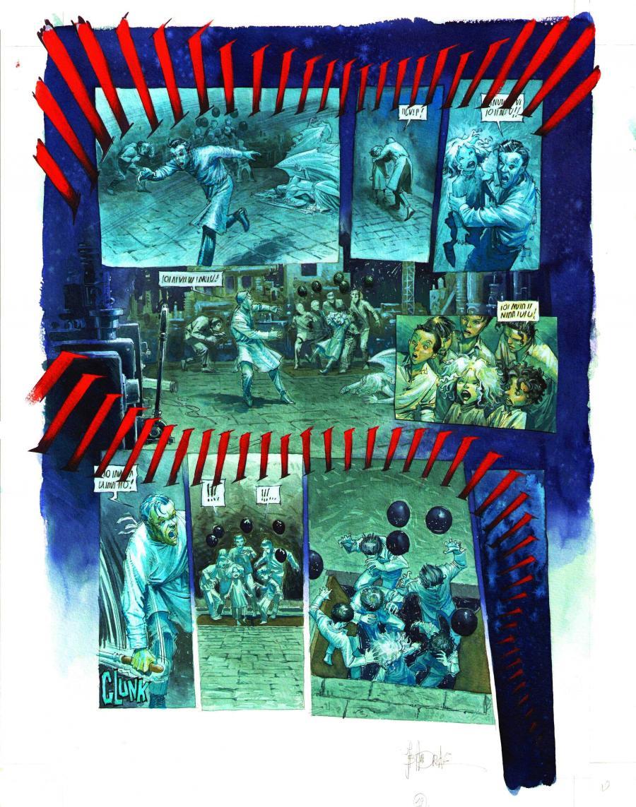 Planche originale de bande dessin e andreae jean - Planche a decouper originale ...