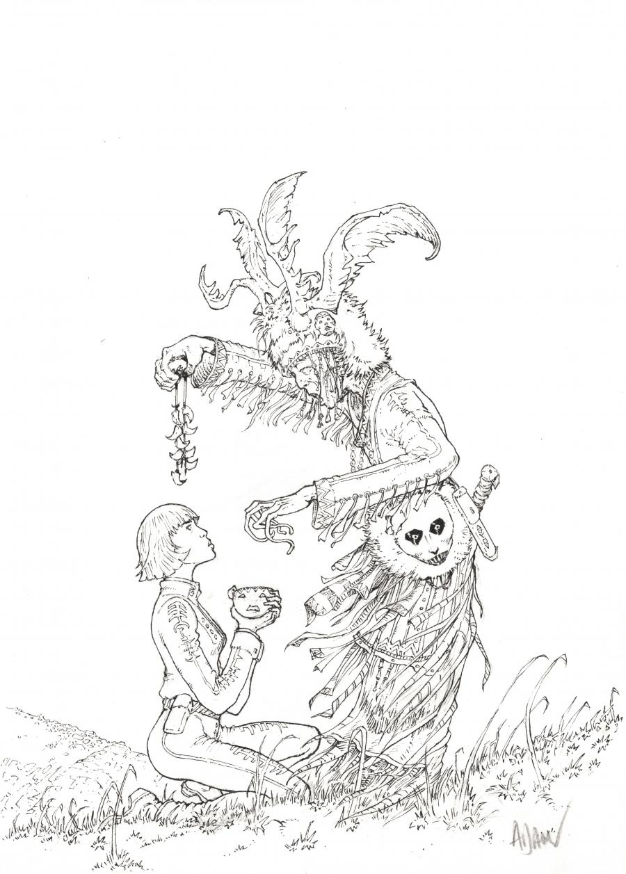 Original Comics illustration, Napoleon Gallery : THE ZENER CURSE - Original cover from La malédiction de Zener Issue 3 - Tokamak by ADAMOV  - COVER