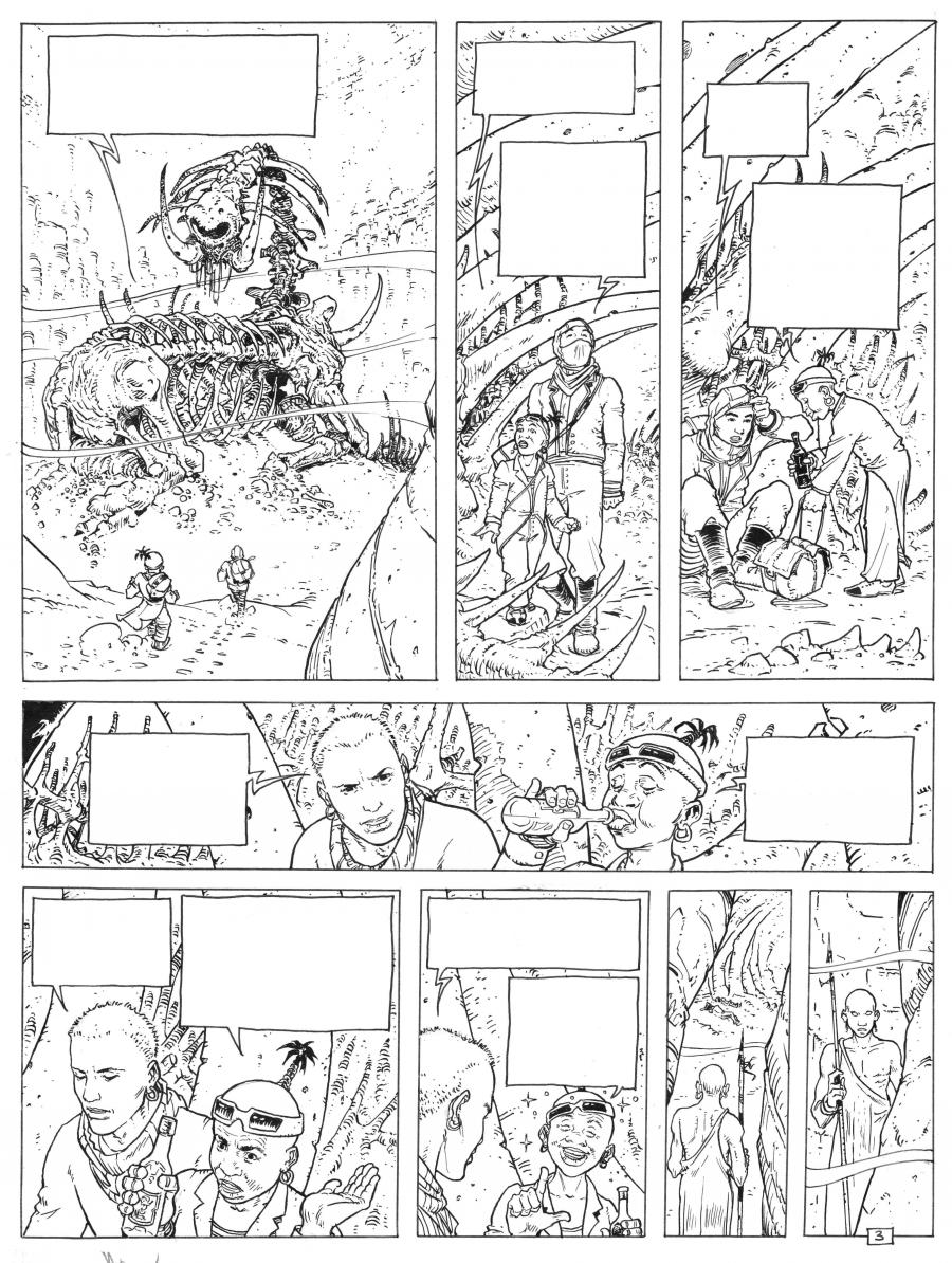 Original Comics illustration, Napoleon Gallery : DAYAK - DAYAK - Original page 3 - 3