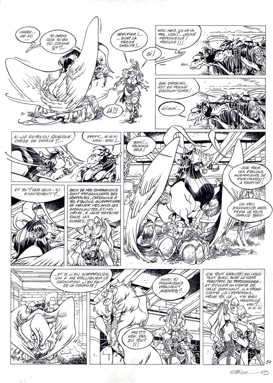 ATALANTE original Didier CRISSE's comic page Issue 4 page 34, by CRISSE