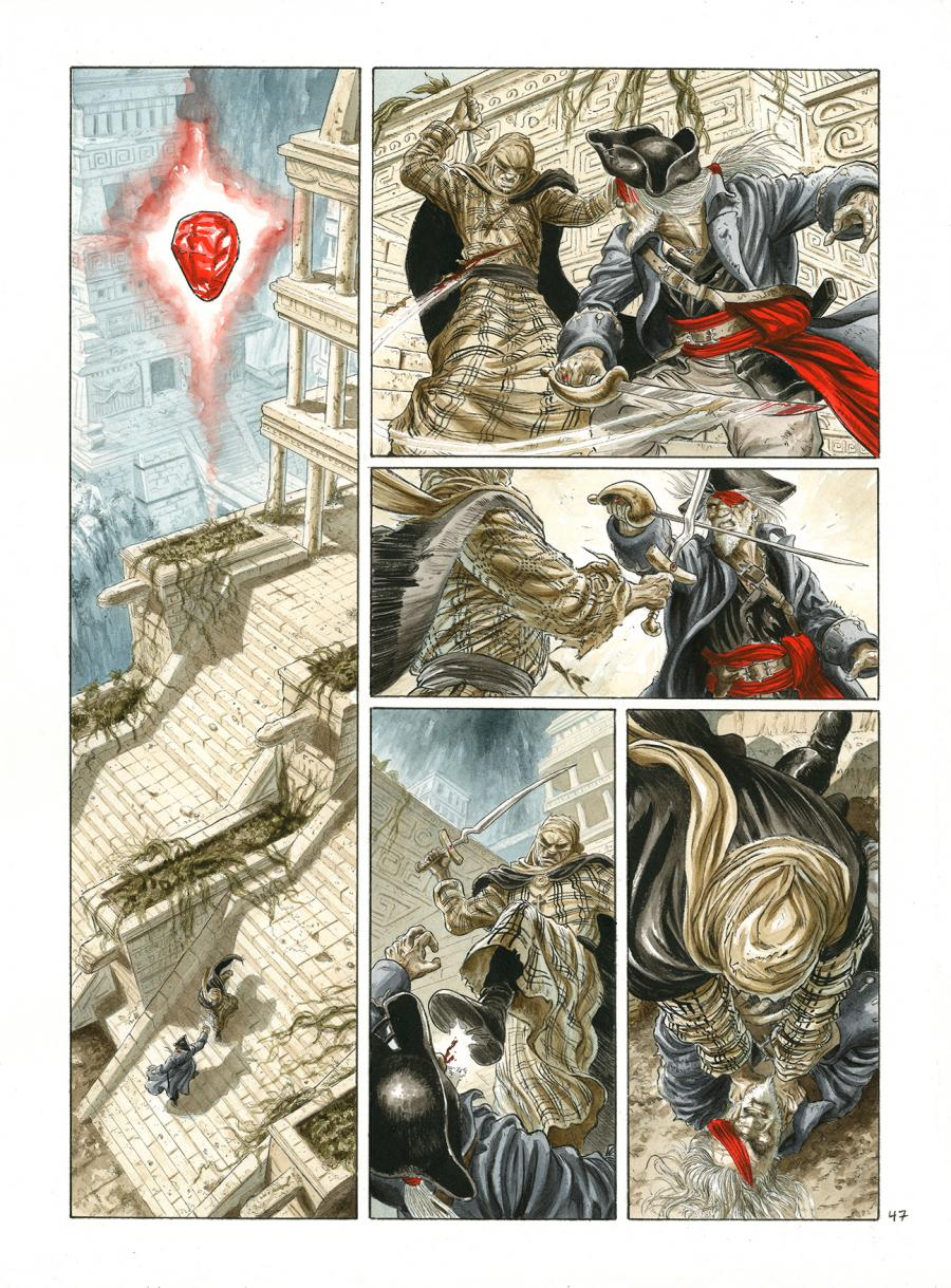 Original Comics illustration, Napoleon Gallery : BARRACUDA - Original comic page from BARRACUDA issue 6 by JEREMY - 47