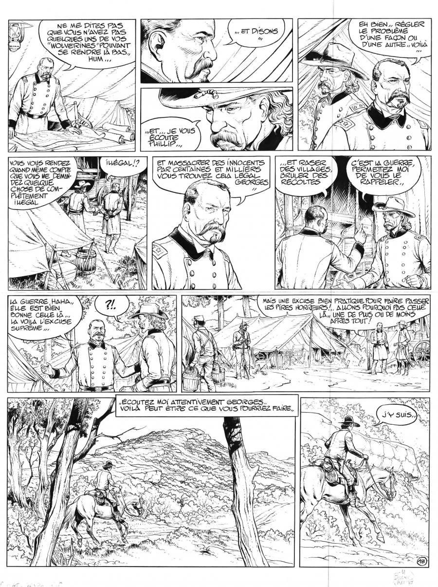 Original comic art 18 of LA JEUNESSE DE BLUEBERRY tome 18 1276 Ames by Michel Blanc-Dumont