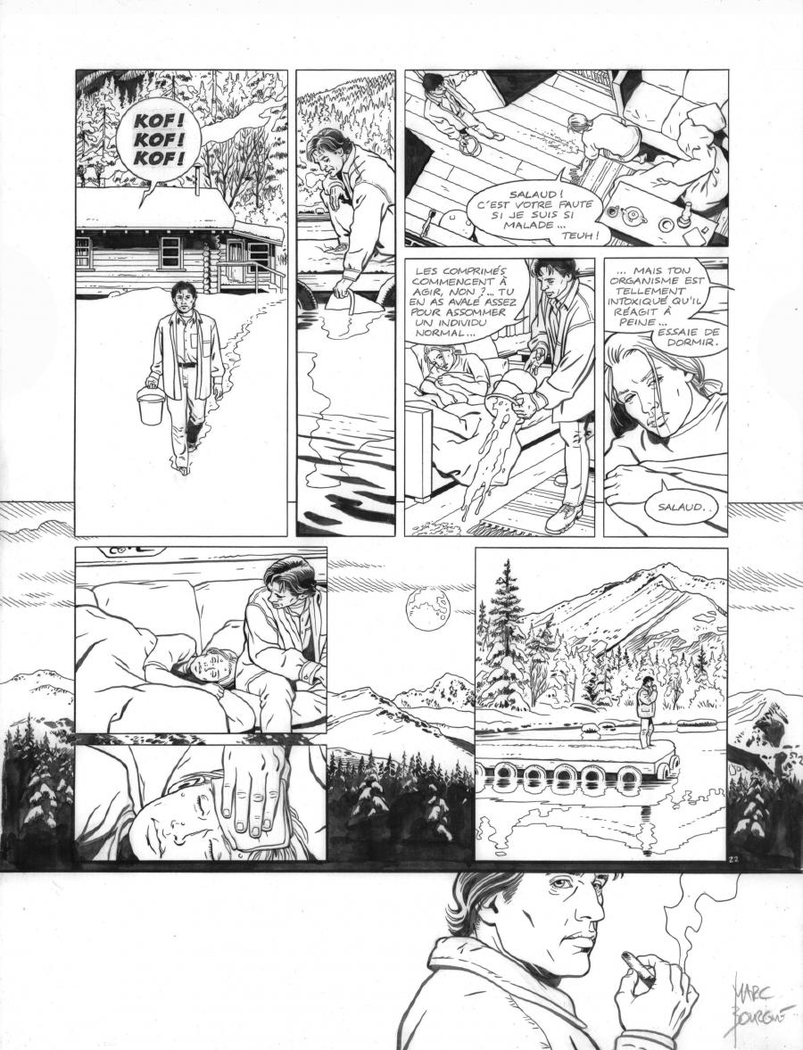 Original page 22 of FRANK LINCOLN issue 1. La loi du Grand Nord, by Marc BOURGNE