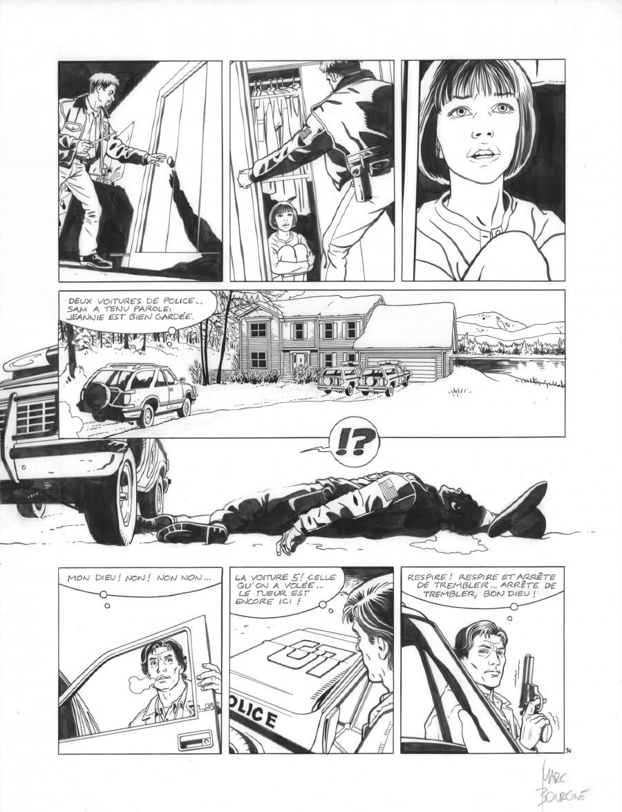Original page 36 of FRANK LINCOLN issue 1. La loi du Grand Nord, by Marc BOURGNE