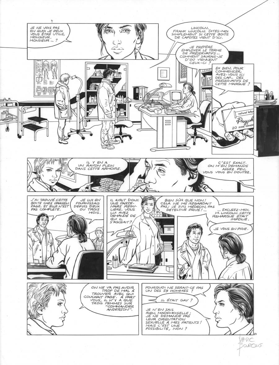 Original page 21 of FRANK LINCOLN issue 2. Off shore, by Marc BOURGNE