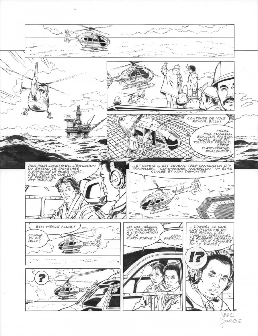 Original page 40 of FRANK LINCOLN issue 2. Off shore, by Marc BOURGNE
