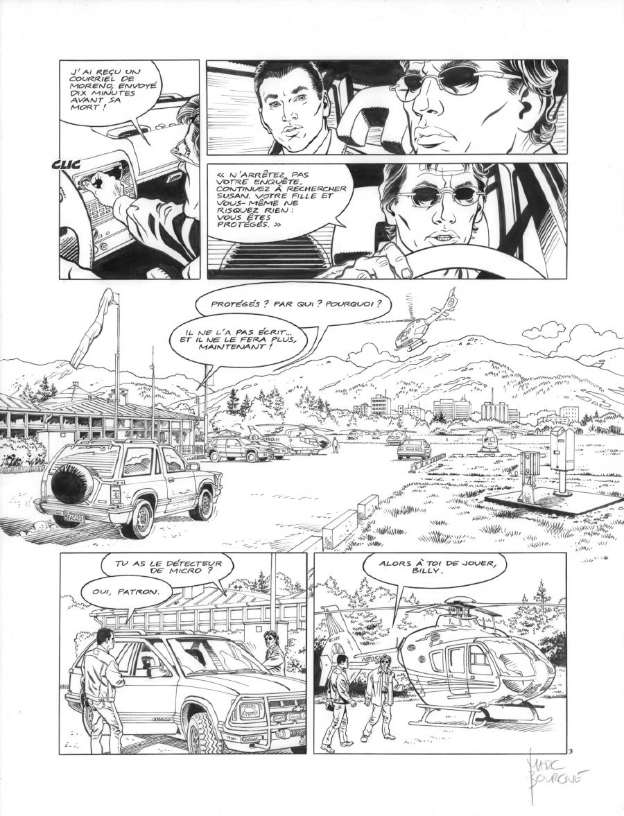 Original page 3 of FRANK LINCOLN issue 4. Kodiak, by Marc BOURGNE