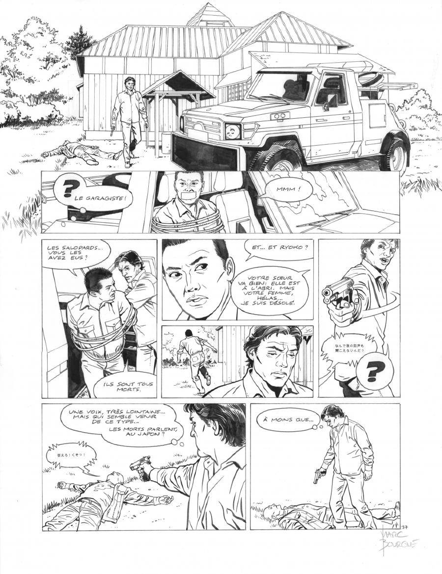 Original page 37 of FRANK LINCOLN issue 5. Kusu-Gun