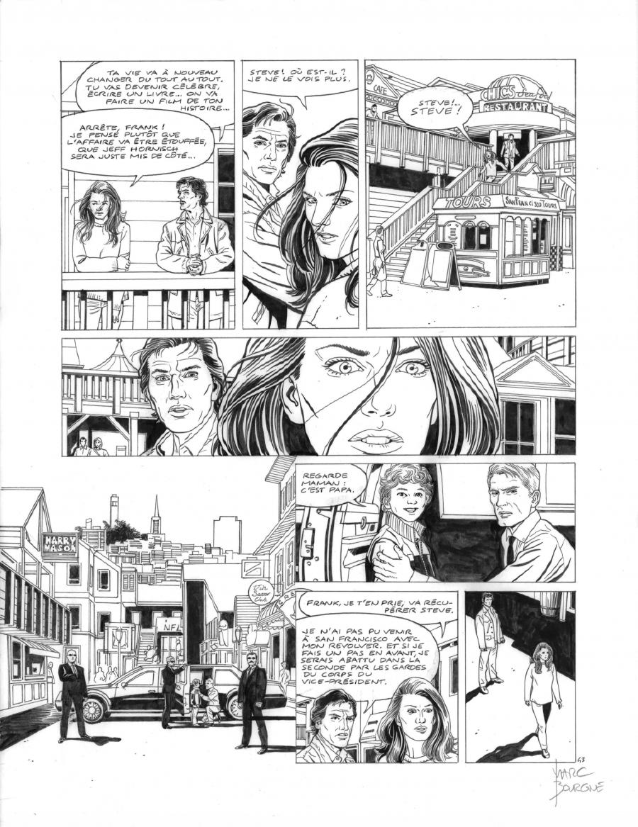 Original page 43 of FRANK LINCOLN issue 5. Kusu-Gun, by Marc BOURGNE