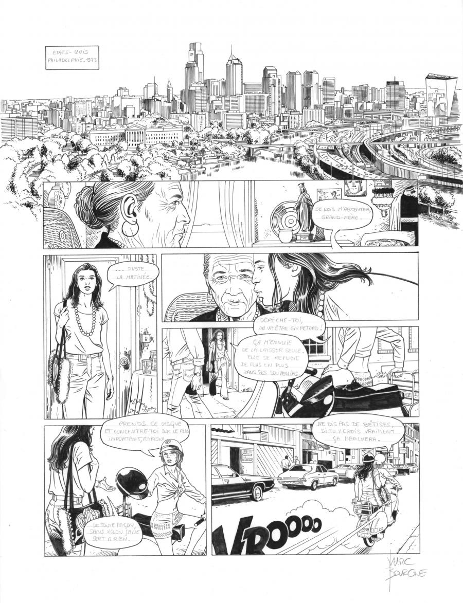 Original page 1 of L'ART DU CRIME issue 7. La mélodie d'Ostelinda