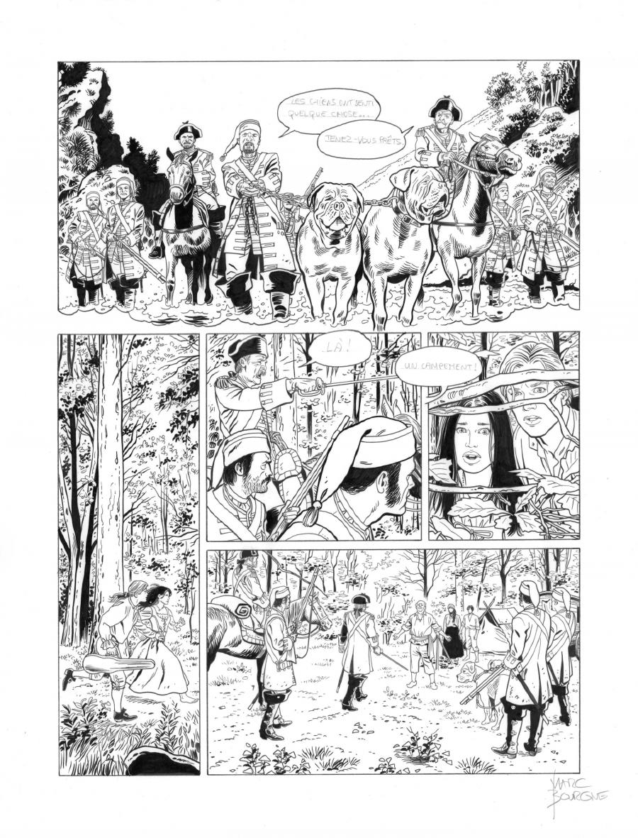 Original page 21 of L'ART DU CRIME issue 7. La mélodie d'Ostelinda, by Marc BOURGNE
