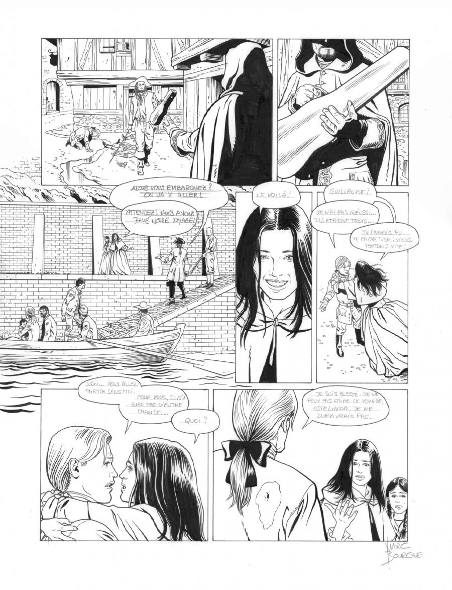 Original page 39 of L'ART DU CRIME issue 7. La mélodie d'Ostelinda, by Marc BOURGNE