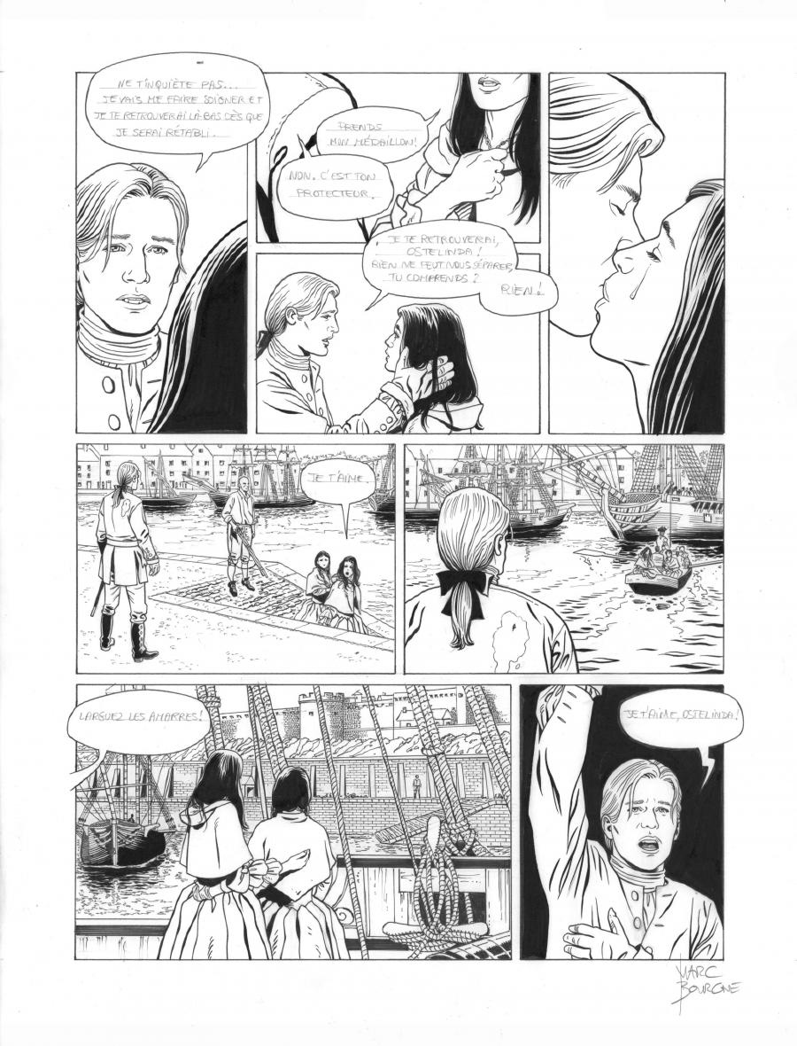 Original page 40 of L'ART DU CRIME issue 7. La mélodie d'Ostelinda, by Marc BOURGNE