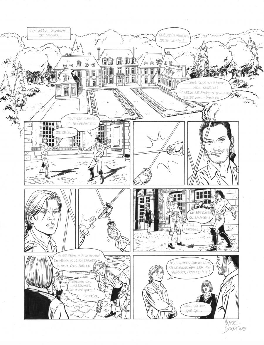 Original page 6 of L'ART DU CRIME issue 7. La mélodie d'Ostelinda