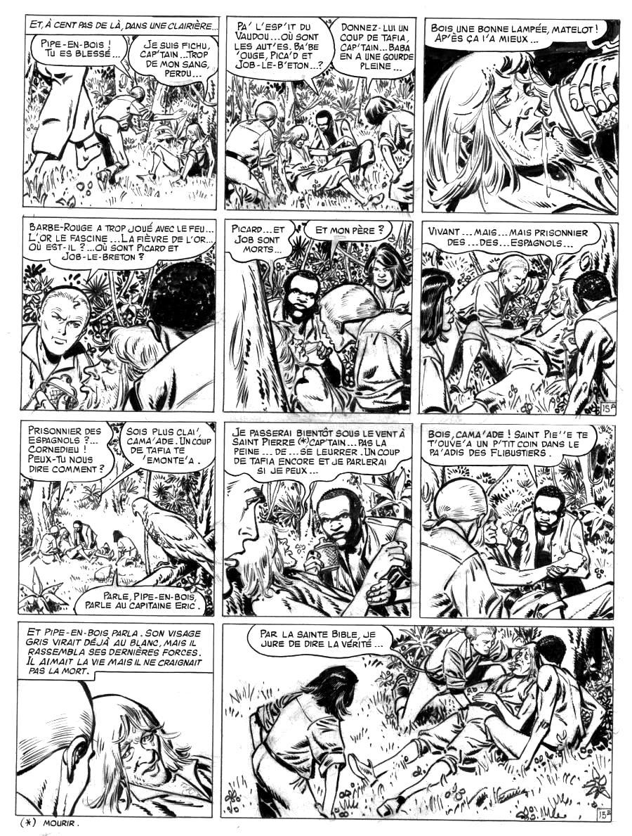 Comics illustration, Napoleon Gallery : BARBE ROUGE - Original comic  page 15 Issue 30 Barbe Rouge L'or et la gloire by Christian GATY - 15