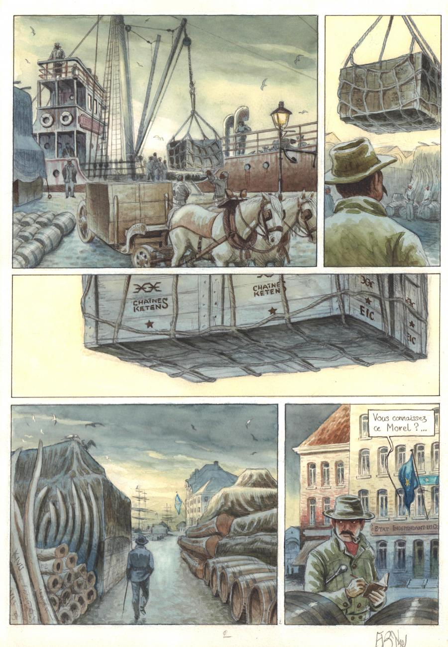 Original comic page 2 from AFRICA DREAMS issue 2 by Frederic BIHEL