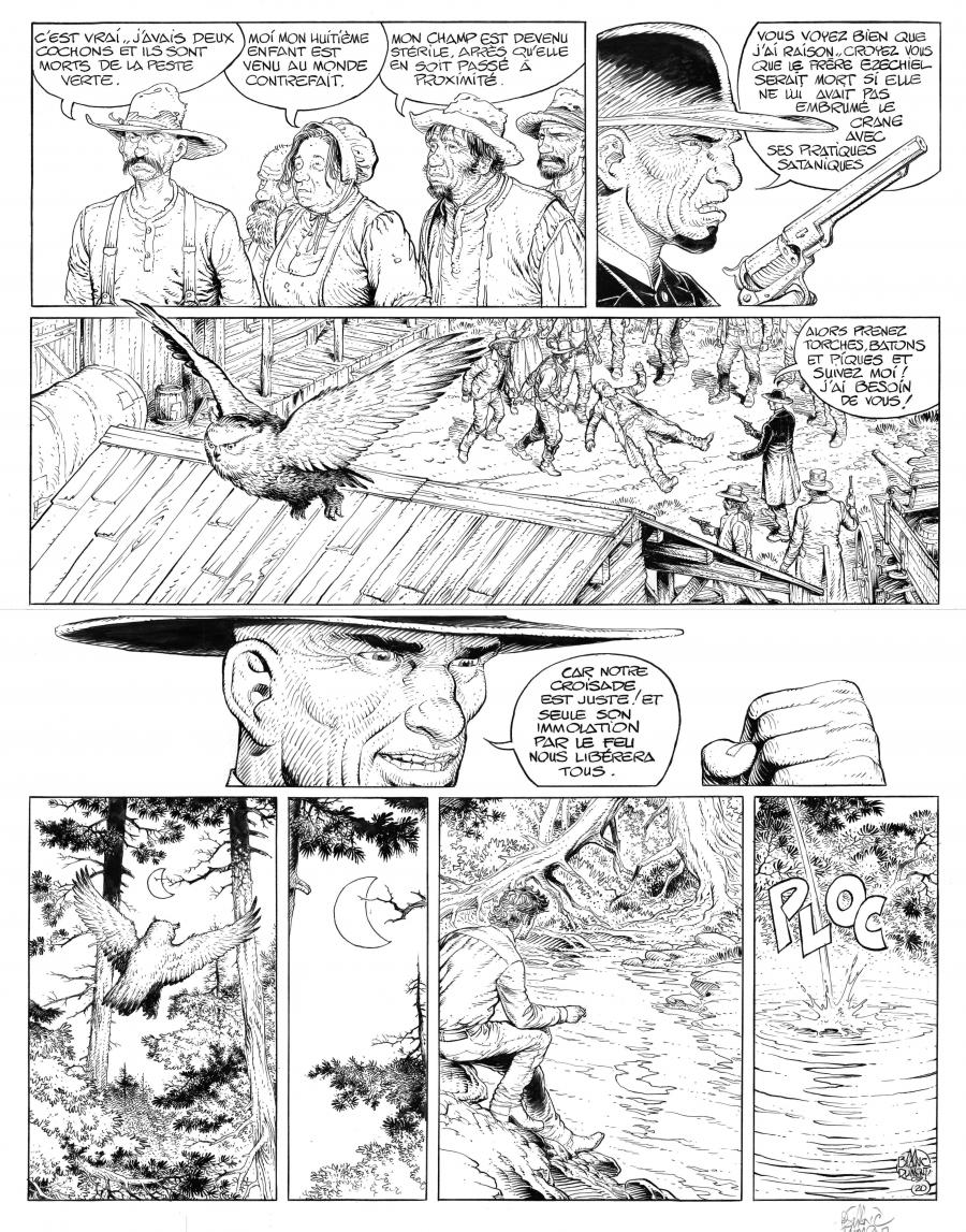 BLUEBERRY the youth original comic page 20 issue 19 by BLANC DUMONT
