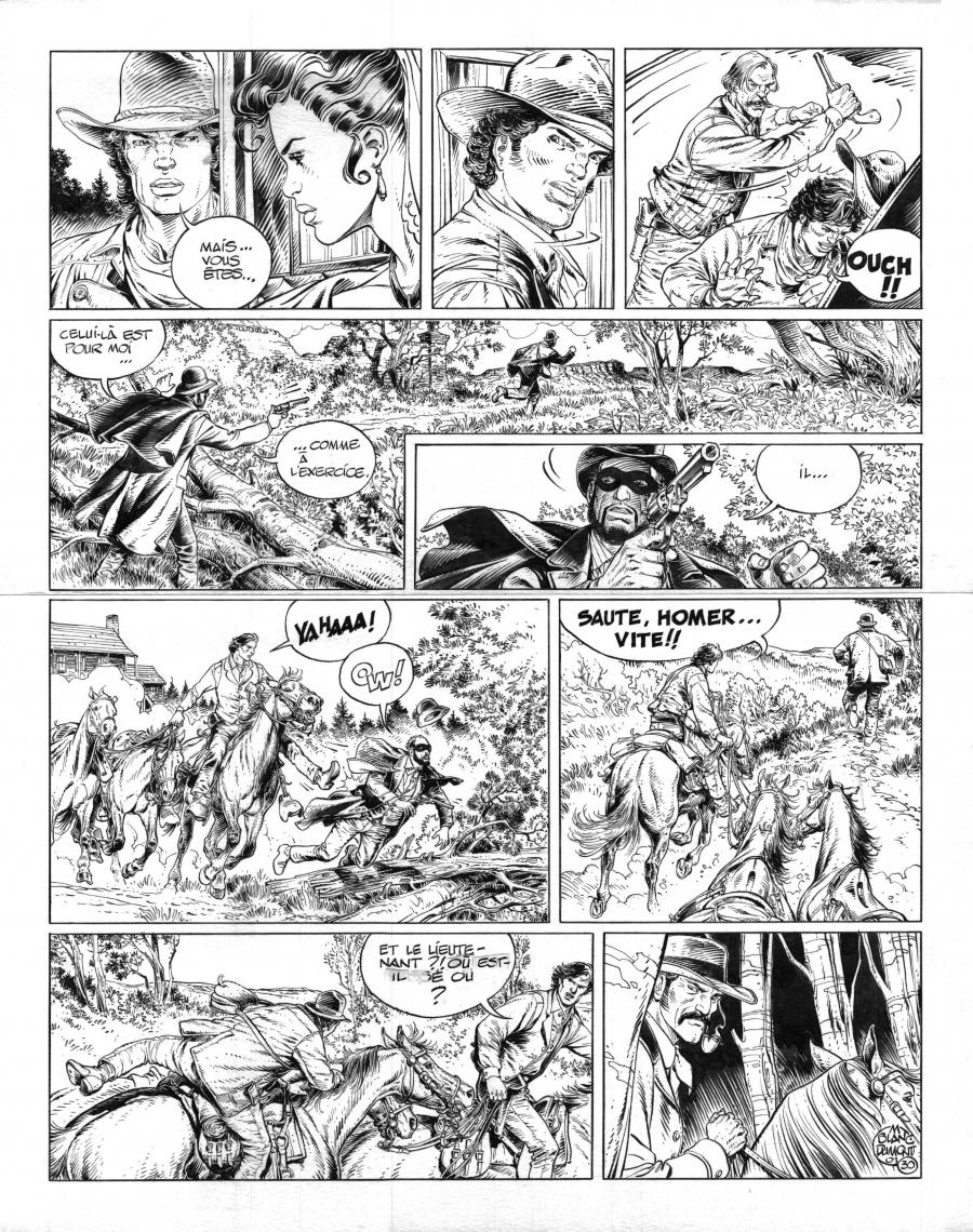 Original comic art 30 of BlueBerry (the youth of) issue 12: Dernier train pour Washington