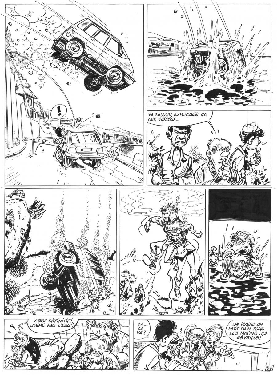 Original comic art 27 of LEO LODEN issue 1 by Serge CARRERE