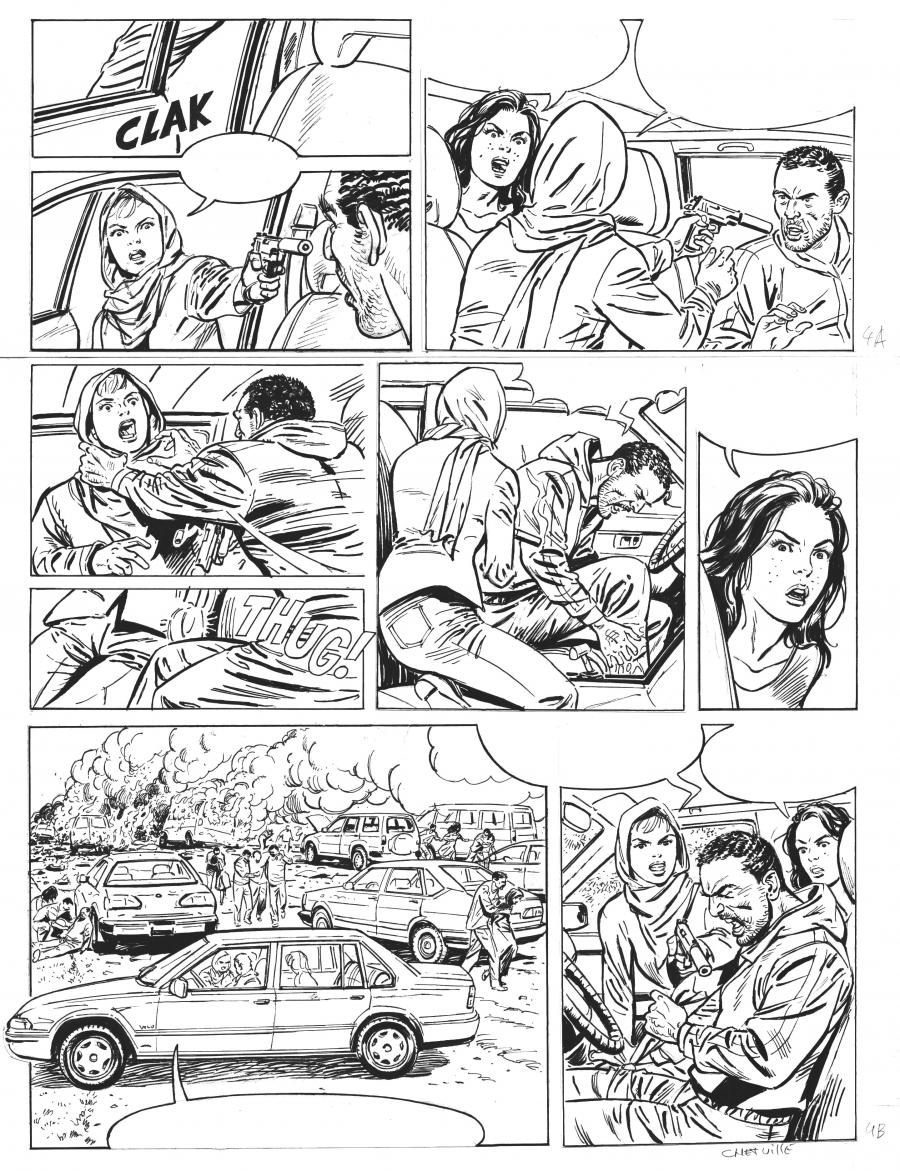 Original comic page 4 from Sienna issue 4 by Denis CHETVILLE