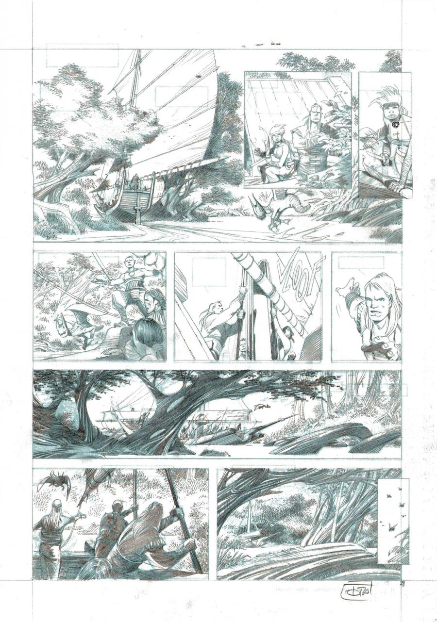 TOTA's original comic art from TROY's CONQUEROR issue 2 original page 23.