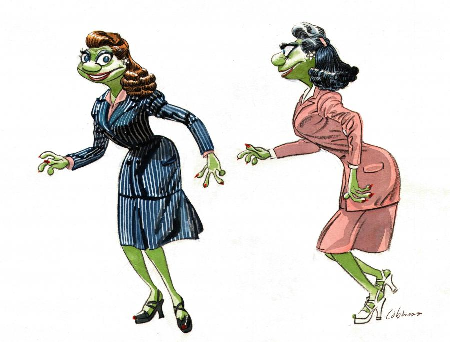 Frog Pin-up - Illustration originale de recherche de personnages par Max CABANES