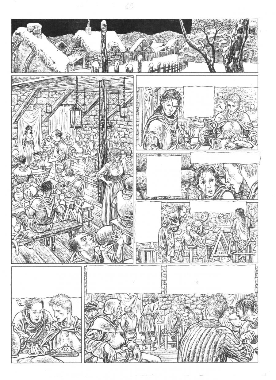 Original comic page 15 of Je suis Cathare issue 3 by CALORE