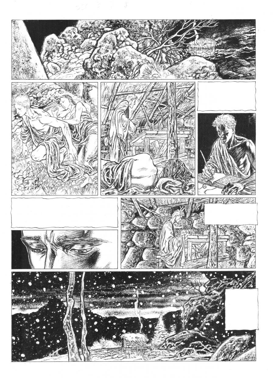 Original comic page 8 of Je suis Cathare issue 3 by CALORE