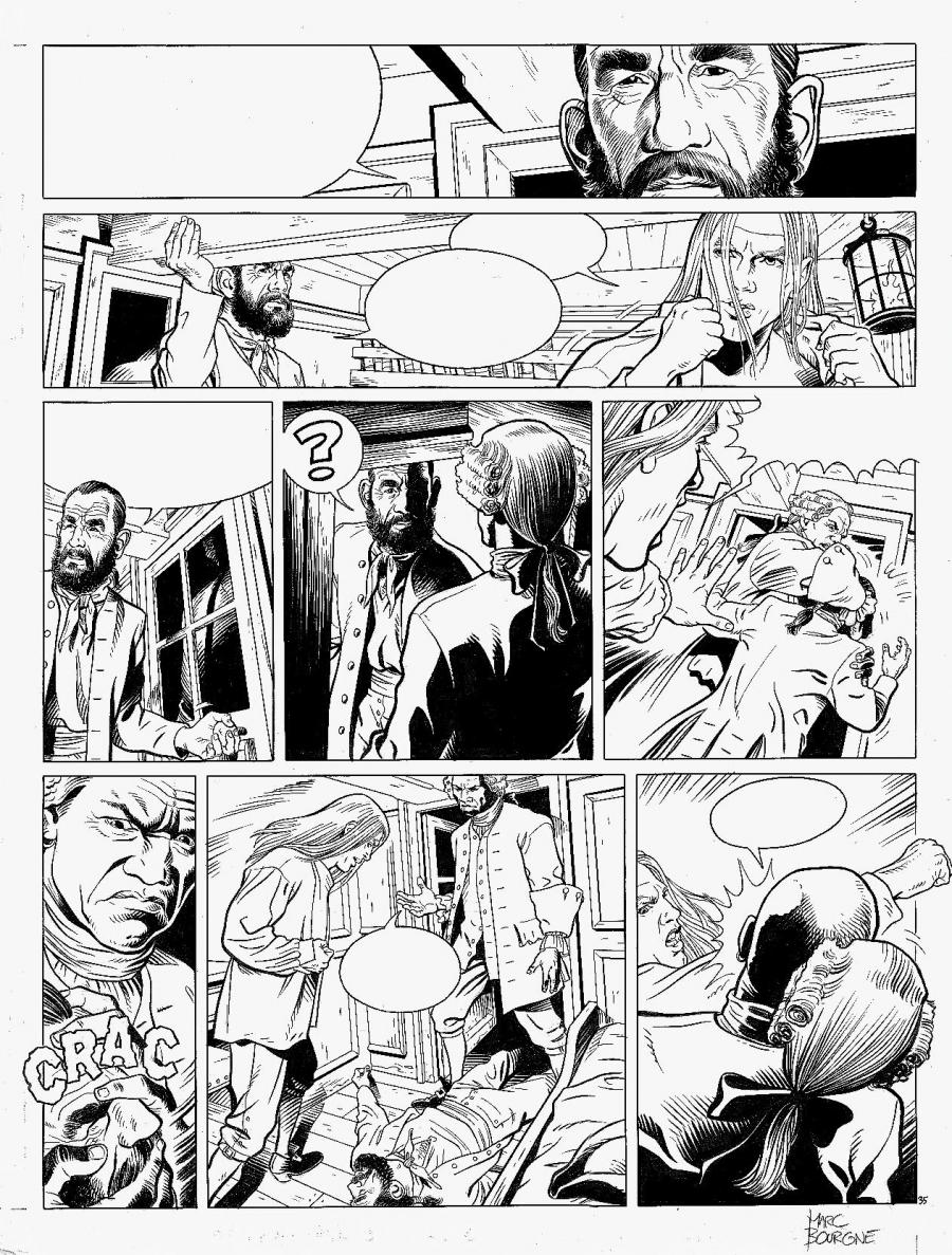 BARBE ROUGE Issue 32 original comic page 35