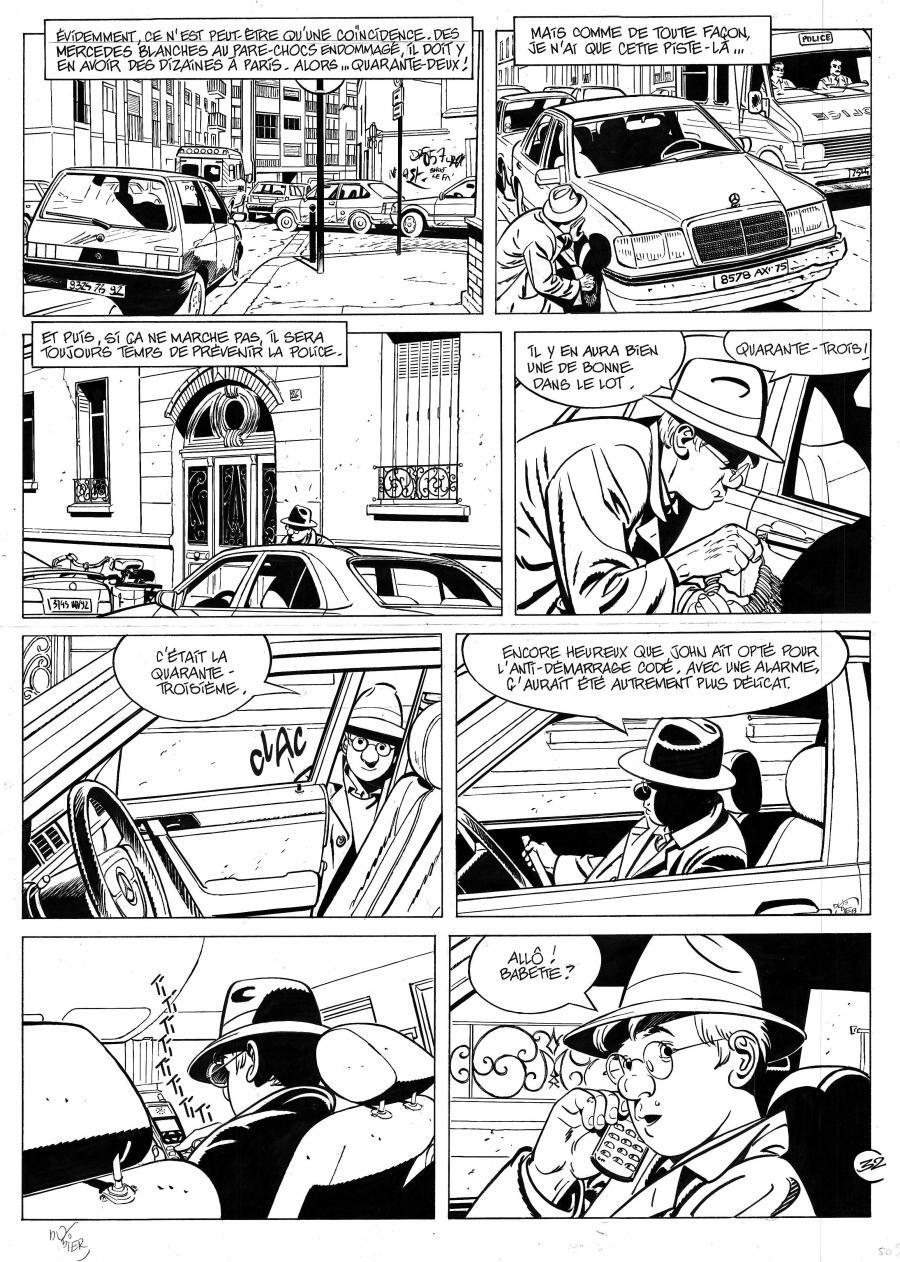 Original comic page 32  from Jérome K. Jérôme Bloche issue 13 Le Pacte by Alain DODIER