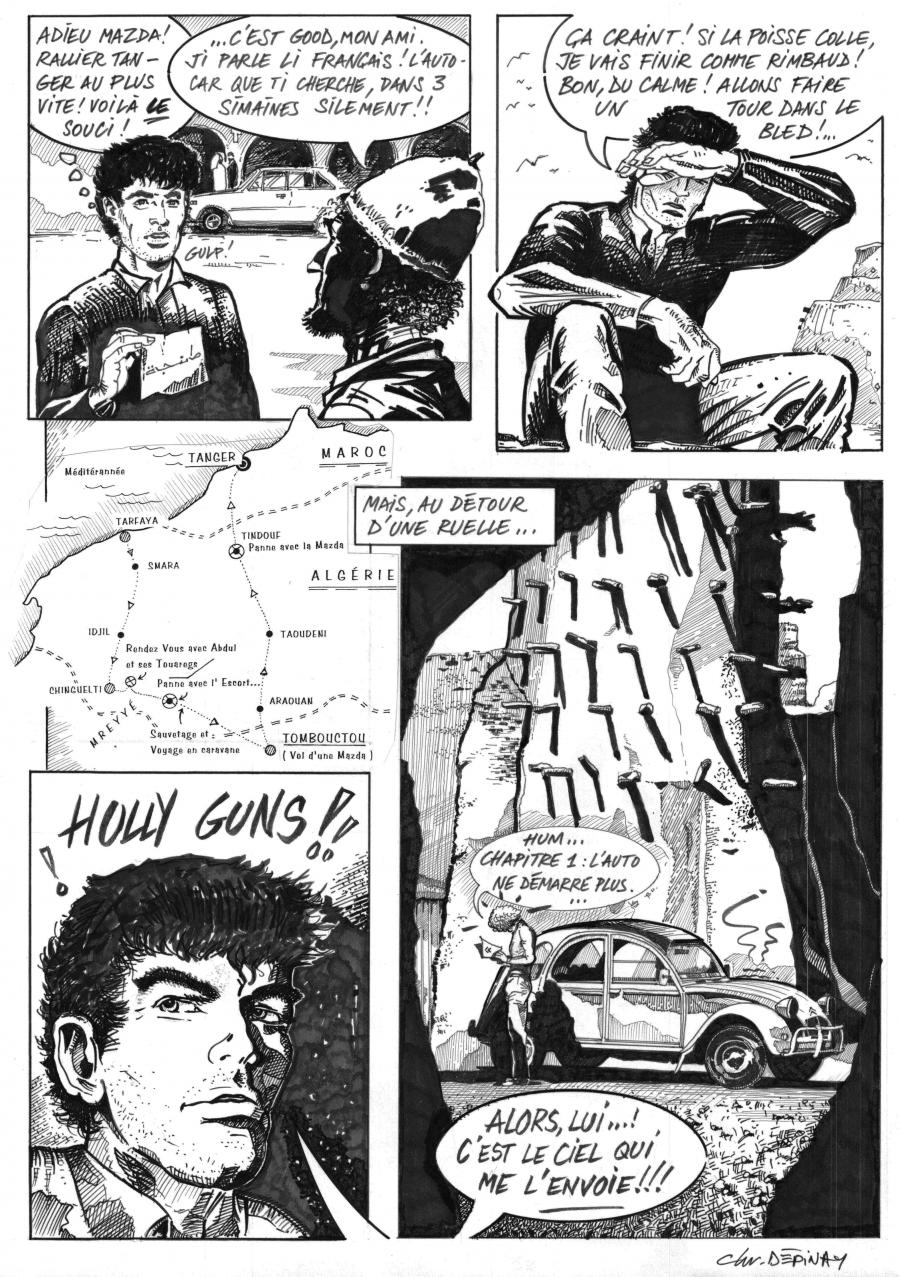 Original Comic art 2 from  Bruce Coventry by Ch. DEPINAY