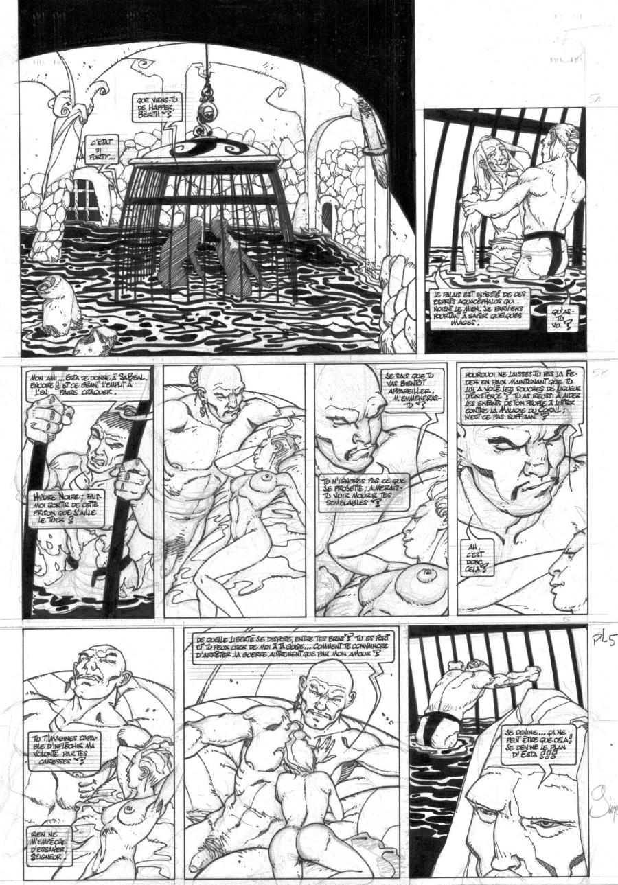 Original comic page 5  issue 7 FINKEL Corruption by Christina GINE