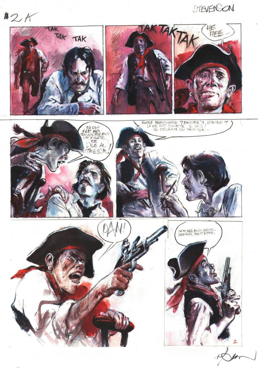 René Follet's comic art for album Stevenson, le pirate intérieur. number 2