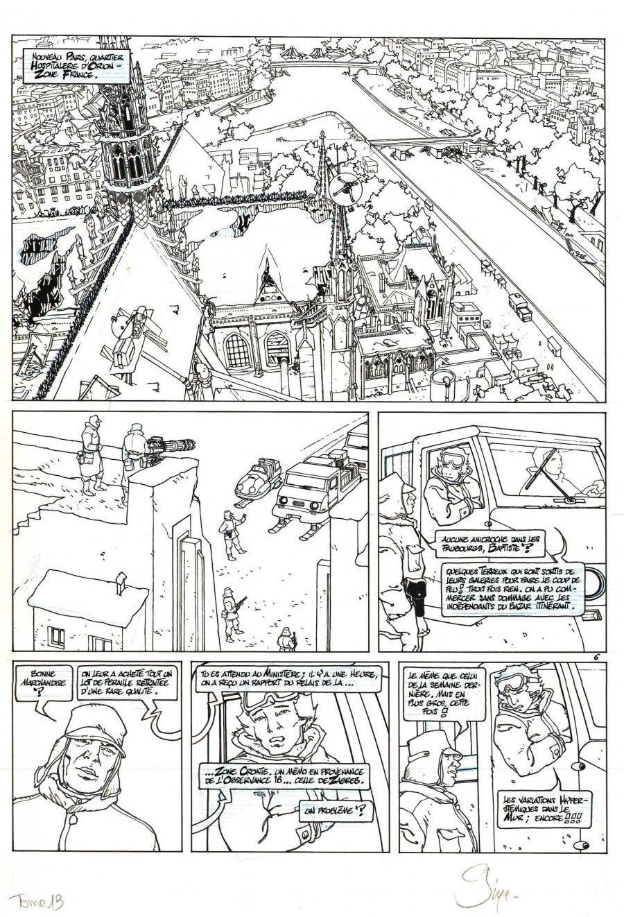 Original comic page 6 from NEIGE Issue 13 - Le Mur par Christian GINE