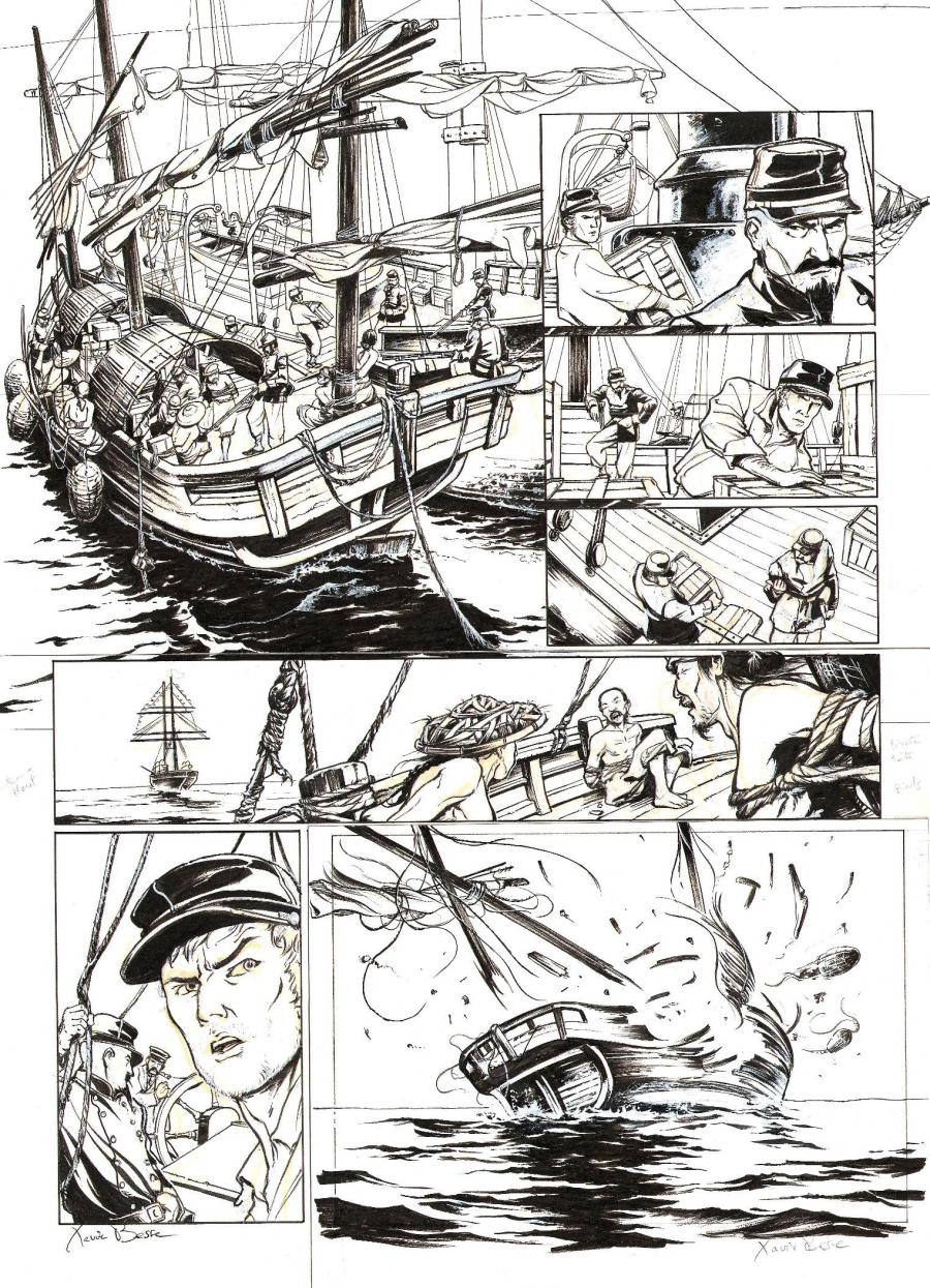 Original page 43 from LAOWAI Issue 1.  La guerre de l'opium by Xavier BESSE