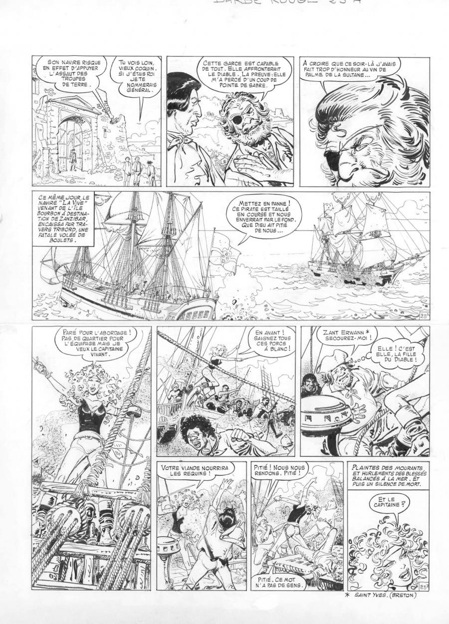 Original comic page 23 from BARBE ROUGE - Issue  28. La flibustière du sans pitié