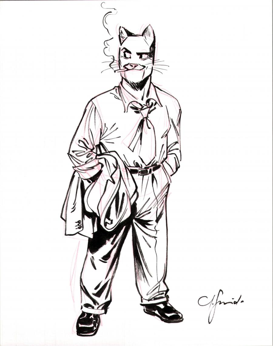 Illustration originale de John Blacksad par GUARNIDO