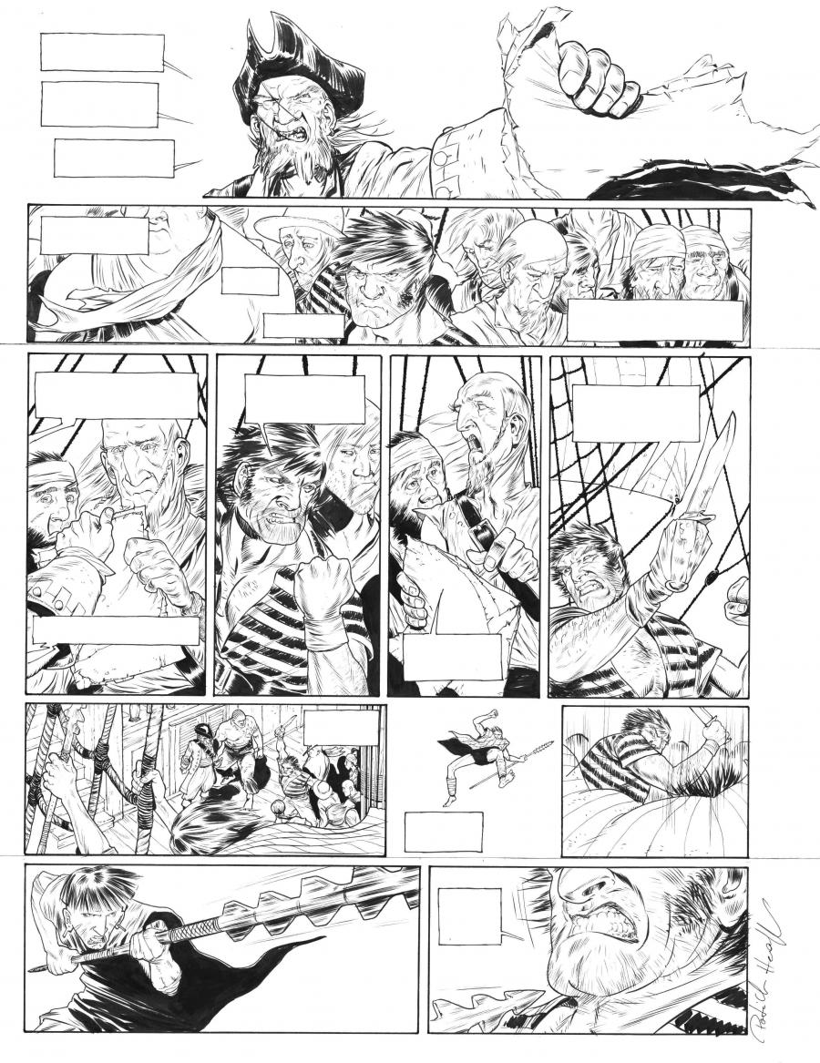 Original comic page 13 of Testament du capitaine Crown issue 1 by PAtrick HENAFF