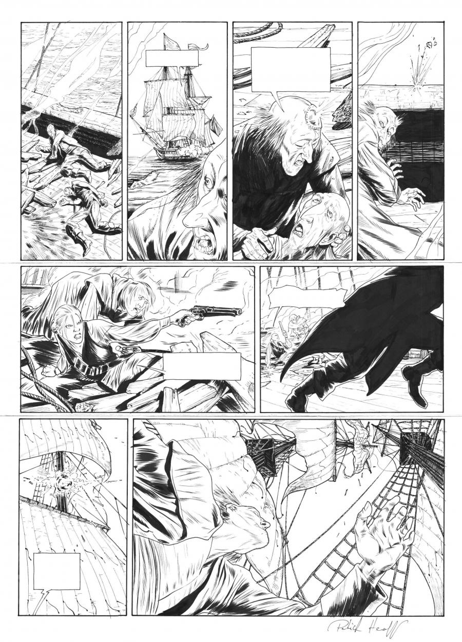 Original comic page 37 of Testament du capitaine Crown issue 1 by PAtrick HENAFF